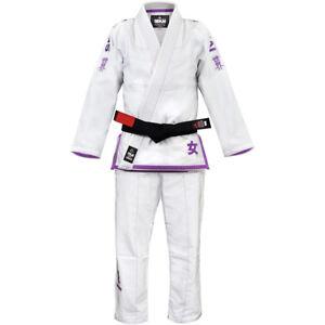 Fuji Sekai Women's BJJ GI - White/Purple
