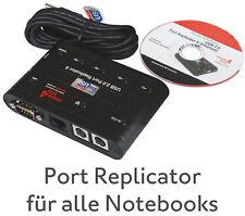 UNIVERSELLE DOCKING STATION II PX1173E-1PRP FÜR ALLE NOTEBOOKS RS-232 10/100 LAN