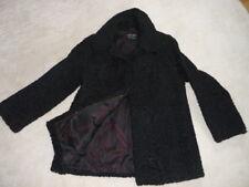 Vintage Shabby Persianer Jacke Pelz Mantel schwarz Gr. 36/38 kurzmantel