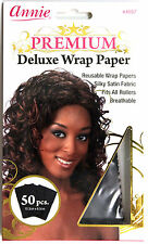 ANNIE PREMIUM DELUXE HAIR ROLLER WRAP PAPER SILKY SATIN FABRIC REUSABLE 50 PCS.