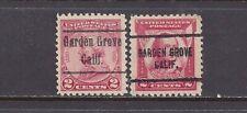 "CALIFORNIA Precancels: 2c ""Reds"" Commemoratives - Garden Grove 486 704"