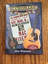BLUEGRASS dvd Mac Wiseman 1971 With Lester Flatt and Chubby Wise