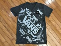 Vans Men's Gray V Neck Logo T-shirts Tee Size S