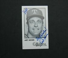 Art Howe Texas Rangers Baseball Player Signed Autographed Photo Card 5x3""