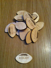 x15 wooden rugby balls, crafts, cardmaking, embellishment
