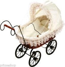Doll pram Antique Basket & Lace Lace lingerie ca. 57 x 26 x 51 cm new