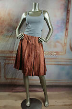 $2030 New with Tags PRADA Brown Terra Cotta Ombre Dyed Silk Pleated Skirt 8 42