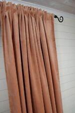 LillaBelle GABRIELLA Samt Vorhang  Terracotta 140x240 2 Stück Landhaus Gardine