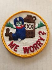 Vintage Patch Me Worry ! NOS 70s Funny Beer Rat Hot Rod Muscle Car alcohol