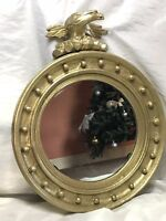 Genuine Antique Regency Early 19th Century Mounted Carved Eagle Gilt Pier Mirror