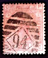 CatalinaStamps: Great Britain Stamp #67 Used Plate 5, SCV=$60, #A-2