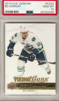 2014-15-U.D.CANVAS YOUNG GUNS ROOKIE  BO HORVAT  R.C.  GRADED GEM MT 10! CANUCKS