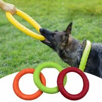 Pet Dog Rubber Training Flying Ring Pets Toy Durable Dish Chew Outdoor Disc Bite