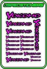 YOKOMO RC STICKER SHEET A5 R/C BD7 BD8 VOLKER DRIFT YZ-4 YD-2 BD9 PINK/BLACK