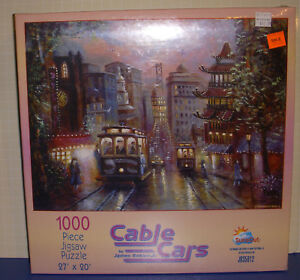 Cable Cars SunsOut 1999 New Sealed 1000 Pieces Puzzle Transportation