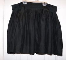"""21 Twenty One Black Lined Mini Skirt Pleated L silk Cotton 94981 33"""" W 16"""" L"""