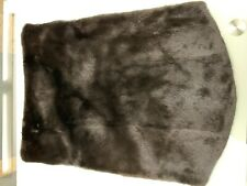 Black Mink Fur Unisex Scarf