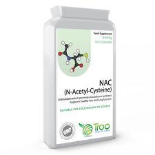 NAC N-Acetyl-Cysteine 600mg 120 Capsules UK Made GMP Guaranteed Quality