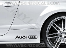 2x AUDI Logo Premium Cast CAST Gonna Decalcomanie Adesivi Quattro S-LINE RS A3 A4 A6