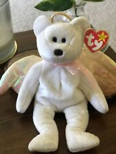 Ty Beanie Babies - Rare Halo Bear w/Black Eyes, Brown Nose & Iridescent Wings