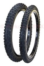 """Cheng Shin C1244 KNOBBY old school BMX bicycle tires 20"""" STAGGERED PAIR BLACK"""