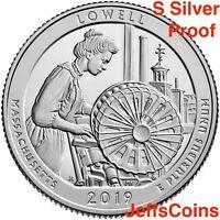 2019 S Mint 99% SILVER Proof Lowell National Historical Park Quarter Quarter ATB