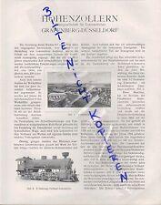 GRAFENBERG-DÜSSELDORF, Werbung 1911, Hohenzollern AG für Lokomotivbau