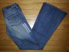 Motley Flare NWOT Sz 27 28x32 Light Blue ROCK & REPUBLIC Blue Jeans! p2624