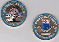 US Army Delta Company 1st Battalion 155th Infantry OIF 2009 Challenge Coin