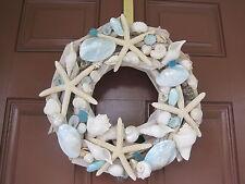 Beach Decor Handmade Seashell and Starfish Driftwood Wreath - Coastal Home Decor