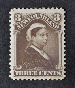 NEWFOUNDLAND, QV, 1887, 3c. deep brown value, SG 52, MM condition, Cat £85.