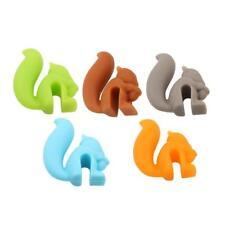 5x Silicone Squirrel Shape Tea Bag Infuser Holder Random Candy Color Mug Gift LG