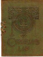 "1913 Cumberland Unviersity of Law Graduation Invitation. Leather 5"" X 6 1/4"""