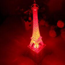Romantic Wedding Eiffel Tower Night Light Desk Bedroom Table LED Lamp Home Decor