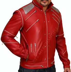 """""""MJ Beat it"""" Real Leather Jacket with real metal mesh"""
