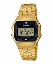 A159WGED-1 Vintage Casio Natural diamonds Gold Digital Watch NEW A159 made Japan