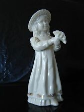 Estate Lenox Figurine GIRL WITH FLOWERS Jewels Collection No Box Mint  USA