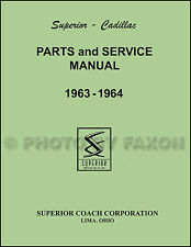 1963-1964 Cadillac Superior Parts Book Catalog Hearse Ambulance Flower Car