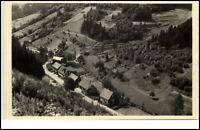 Tellerhammer Thüringen DDR Postkarte 1950/60 Gesamtansicht von oben ungelaufen
