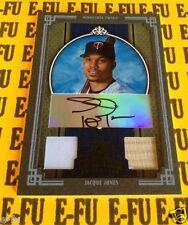 2005 Diamond Kings JACQUE JONES Autograph GU Bat Jersey #129 #d 14/25 Twins Auto