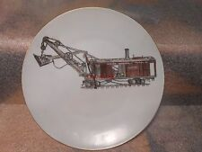 Early Hand Painted Marion Steam Shovel Model 61 Plate Artist Signed