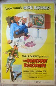 "BAREFOOT EXECUTIVE One Sheet 27""x41"" US Walt Disney Movie poster Film 71/81 VF"