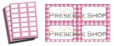 Jam Jar Labels for Preserve Storage Jars - Pink Gingham - Jam & Preserve Making