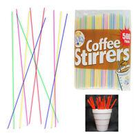 NEW Plastic Stirrer Sip Stix Straw Coffee Cocktail 5 inch 1000 pcs Black