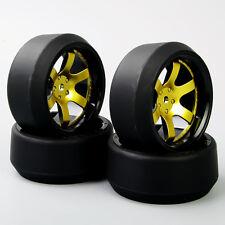 HobbyGo 1 Set 1:10 RC Car Speed Drift 5 Degree Tires Tyre Wheel Rim D6KG For HPI