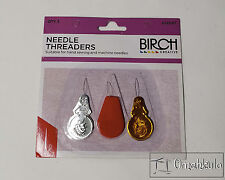 BIRCH Needle Threaders - Assorted Designs - Plastic and Metal