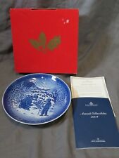Bing & Grondahl Copenhagen Plate 2004 The Christmas Tree + Box & Coa Denmark
