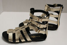 NEW MIB Womens Rock & Republic Gold Gladiator Sandals Shoes Size 5.5 RRLUNARGOLD