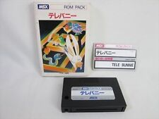 msx TELE BUNNIE Import Japan Video Game 0627 msx