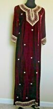 ANTIQUE HAUTE COUTURE RED VELVET & GOLD DRESS/CAFTAN/WEDDING DRESS /PEARLS